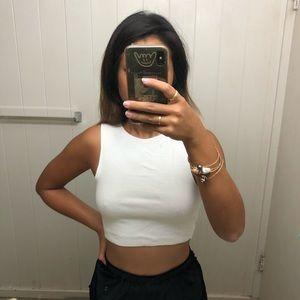 Zara white cropped top